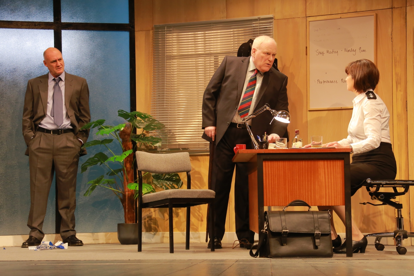 Robert Gwilym as Frank Bowman , Ron Donachie as Fergus McLintock and Maureen Beattie as Isobel McArthur