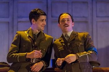 Jack Monaghan (Prior) & Garmon Rhys (Owen). Photo: Manuel Harlan
