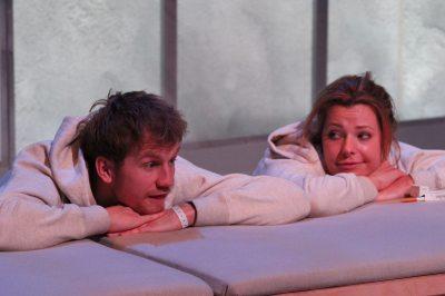 Cameron Crighton as Tristan and Scarlett Mack as Connie All photos: Firebrand.