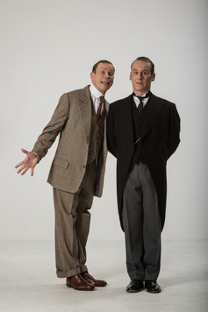 Robert Webb as Bertie Wooster and Jason Thorpe as Jeeves. Photos: Hugo Glendinnig