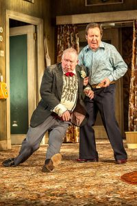 Brian Pettifer (l) as Donnie Francisco  with Jonathan Watson (r) as Cammy.