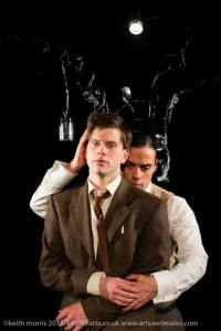 To Kill a Machine, a new full length play written by Welsh writer Catrin Fflur Huws about the life of Alan Turing. Director: Angharad Lee Scriptography Productions Dress Rehearsal May 5 2015 ©keith morris www.artswebwales.com  keith@artx.co.uk  07710 285968 01970 611106