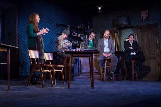 l to r. Lucianne McEvoy, Darragh Kelly, Brian Gleeson, Frank McCuster, Gary Lydon. Photo. Drew Farrell