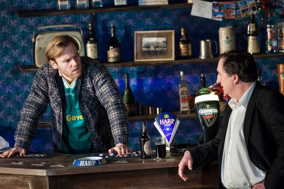 Brian Gleeson, Brendan, and Gary Lydon as Jack. Harp Lager and Draught Guinness as themselves.