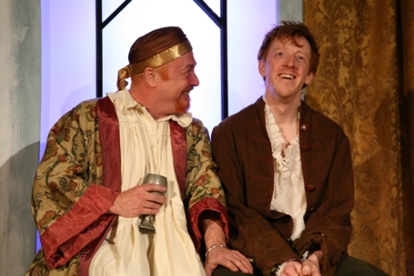 Jimmy Chisholm as James VI and Gavin Wright as William. Photo: Leslie Black