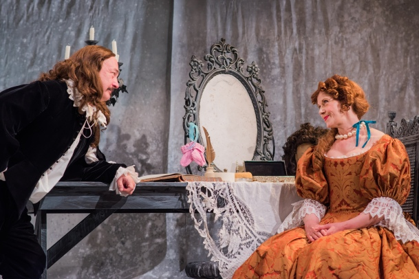 Jimmy Chisholm as Moliere & Siobhan Redmond as Madeleine. Photo: Mihaela Bdlovic.