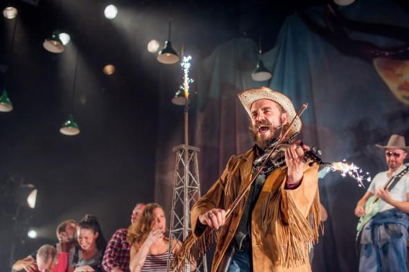 Alasdair Macrae, Musical Director, as Texas Jim . Photo:Tommy Ka-Gen Wan